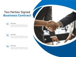 Two Parties Signed Business Contract