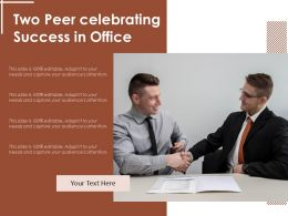 Two Peer Celebrating Success In Office