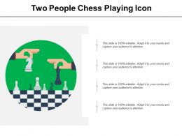 Two People Chess Playing Icon