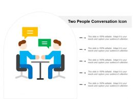 Two People Conversation Icon