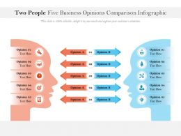Two People Five Business Opinions Comparison Infographic