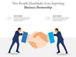 Two People Handshake Icon Depicting Business Partnership