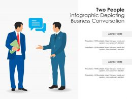 Two People Infographic Depicting Business Conversation