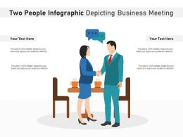 Two People Infographic Depicting Business Meeting
