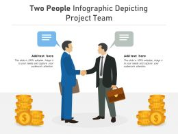 Two People Infographic Depicting Project Team