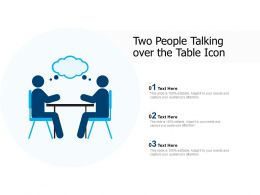 Two People Talking Over The Table Icon