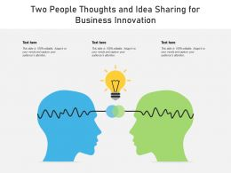 Two People Thoughts And Idea Sharing For Business Innovation
