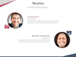 Two Peoples With Quotes For Professional Work Powerpoint Slides