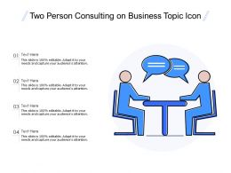 Two Person Consulting On Business Topic Icon