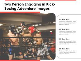 Two Person Engaging In Kick Boxing Adventure Images