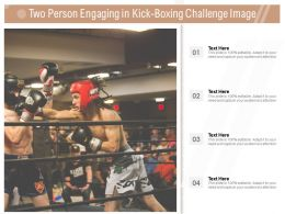 Two Person Engaging In Kick Boxing Challenge Image