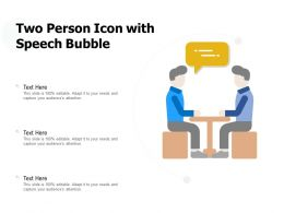 Two Person Icon With Speech Bubble