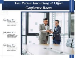 Two Person Interacting At Office Conference Room