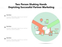 Two Person Shaking Hands Depicting Successful Partner Marketing