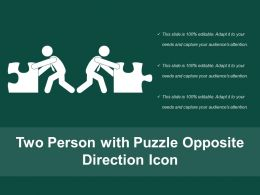 Two Person With Puzzle Opposite Direction Icon