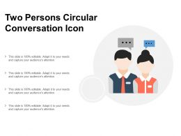 Two Persons Circular Conversation Icon