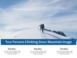 Two Persons Climbing Snow Mountain Image