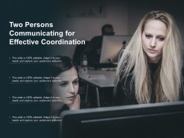 Two Persons Communicating For Effective Coordination