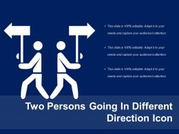 Two Persons Going In Different Direction Icon
