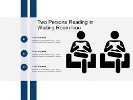 Two Persons Reading In Waiting Room Icon