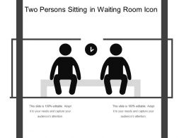 Two Persons Sitting In Waiting Room Icon