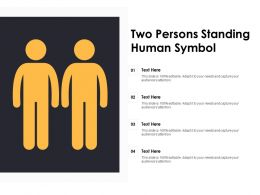 Two Persons Standing Human Symbol
