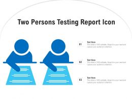 Two Persons Testing Report Icon