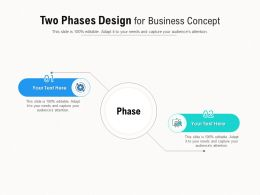 Two Phases Design For Business Concept
