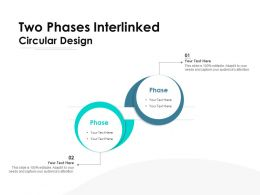 Two Phases Interlinked Circular Design