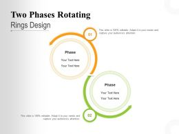 Two Phases Rotating Rings Design