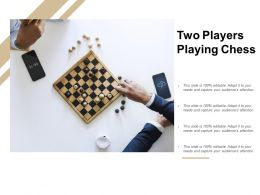 Two Players Playing Chess