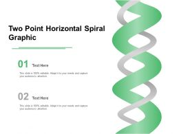 Two Point Horizontal Spiral Graphic