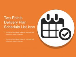 Two Points Delivery Plan Schedule List Icon