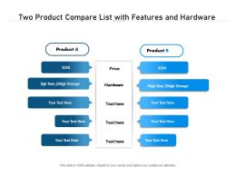 Two Product Compare List With Features And Hardware