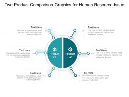 Two Product Comparison Graphics For Human Resource Issue Infographic Template