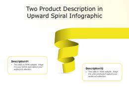Two Product Description In Upward Spiral Infographic