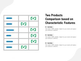 Two Products Comparison Based On Characteristic Features
