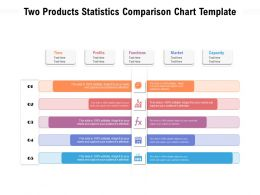 Two Products Statistics Comparison Chart Template