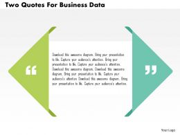 Two Quotes For Business Data Flat Powerpoint Design