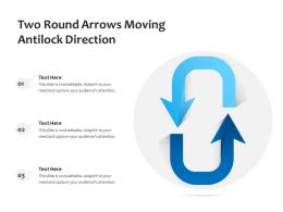Two Round Arrows Moving Antilock Direction