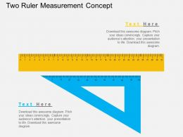 Two Ruler Measurement Concept Flat Powerpoint Design