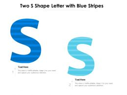 Two S Shape Letter With Blue Stripes