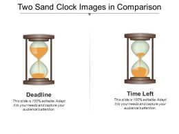 Two Sand Clock Images In Comparison