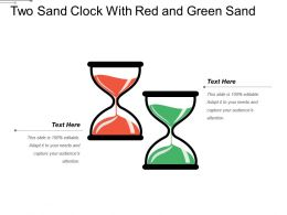 Two Sand Clock With Red And Green Sand