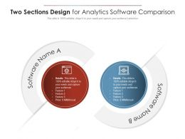 Two Sections Design For Analytics Software Comparison