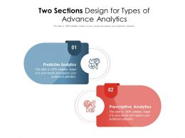 Two Sections Design For Types Of Advance Analytics
