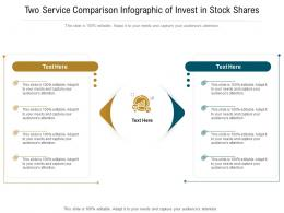 Two Service Comparison Of Invest In Stock Shares Infographic Template