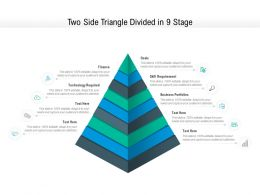 Two Side Triangle Divided In 9 Stage