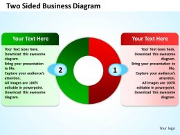 two sided business diagram powerpoint templates graphics slides 0712