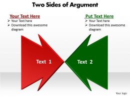 Two Sides Of Argument Powerpoint Slides Presentation Diagrams Templates